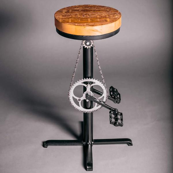 Bar Stool - Pipe And Wood Designs