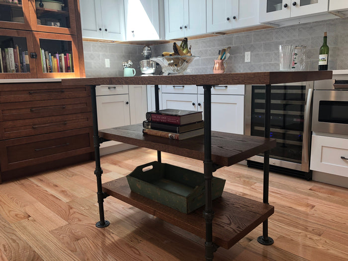 Pipe and Wood Kitchen Island - Pipe And Wood Designs