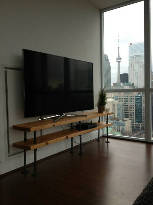 TV Stand - Pipe And Wood Designs