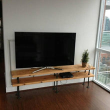 Load image into Gallery viewer, TV Stand - Pipe And Wood Designs