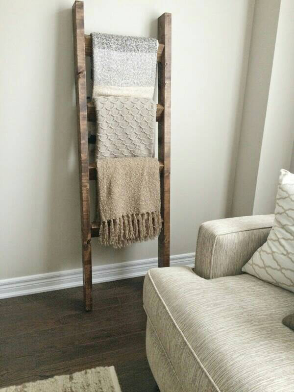 Original Blanket Ladder - Pipe And Wood Designs