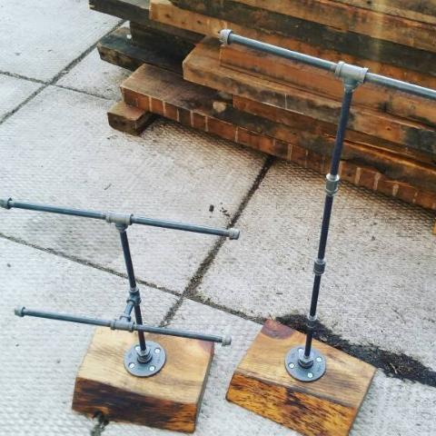Jewelry Stand - Pipe And Wood Designs