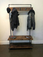 Load image into Gallery viewer, Entry Coat Rack and Bench - Pipe And Wood Designs