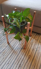 Load image into Gallery viewer, Copper Plant Stand - Pipe And Wood Designs