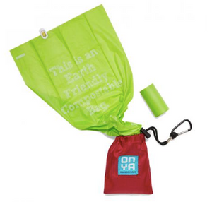 Dog Waste Disposal Bags and Carry Pouch in CHILLI