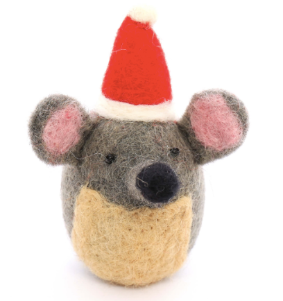 Festive Mouse Holiday Catnip Cat Toy