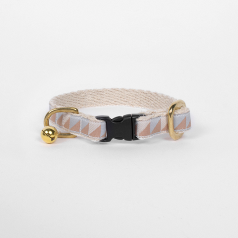 Cat Collar – Nice Grill – Ice Blue x Camel x Ivory