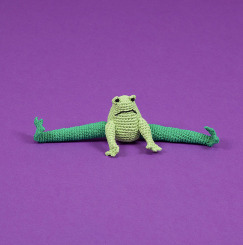 Organic Cotton Hand Crochet Frog Dog Toy