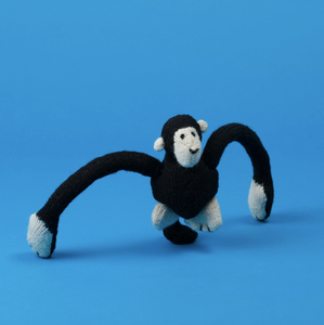 Natural Lambswool Hand Knit Monkey Dog Toy