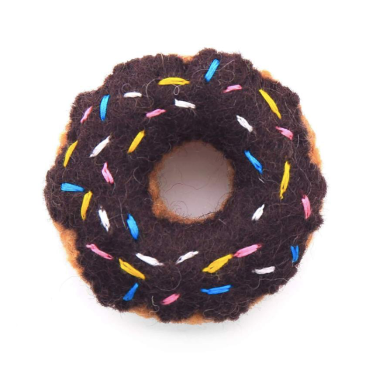 Chocolate Catnip Donut Cat Toy