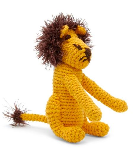 Organic Cotton Hand Crochet Lion Dog Toy