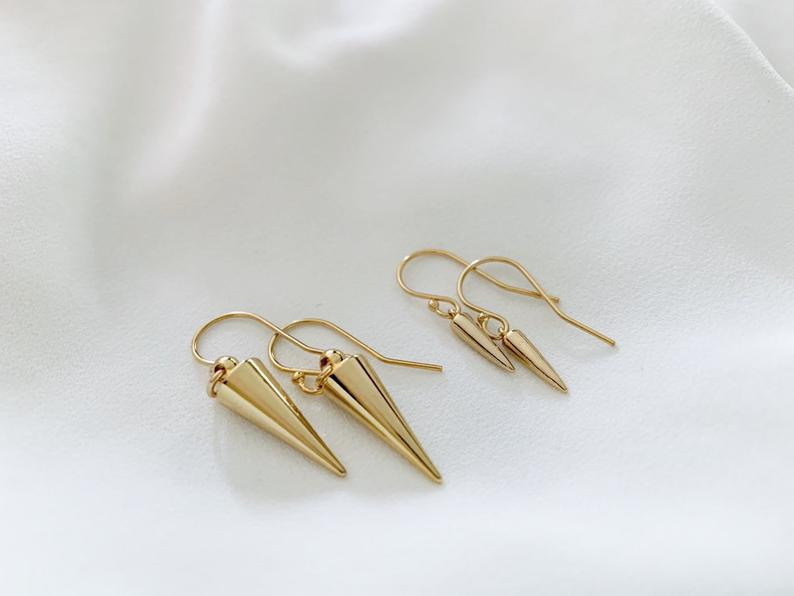 Dainty Gold Spike Earrings