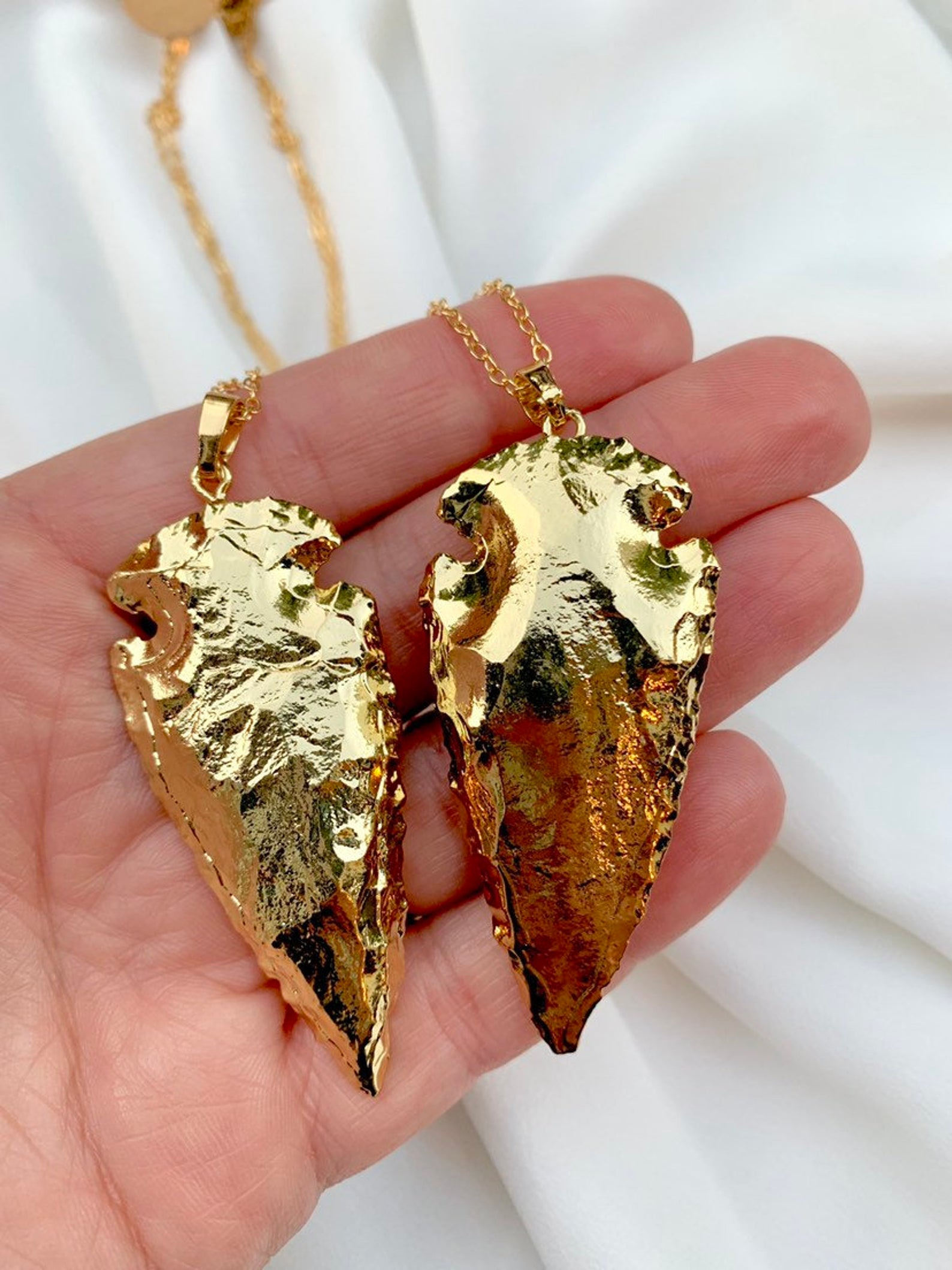 Gold Arrowhead Pendant Necklace