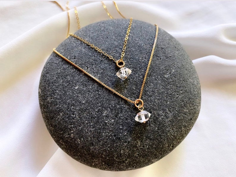 Genuine Herkimer Diamond Pendant Necklace