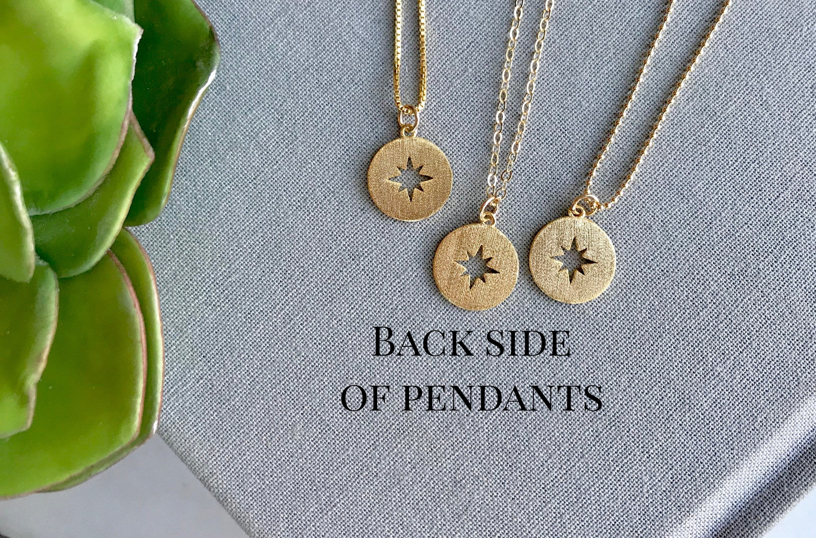 Dainty Gold Compass Medallion Necklace
