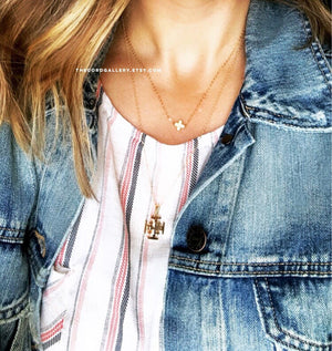 Dainty Gold Filled Cross Necklace