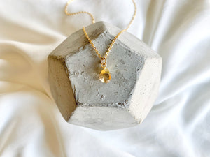 Raw Citrine Gemstone Necklace - November Birthstone