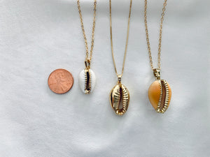 Beachy Tan Cowrie Shell Necklace