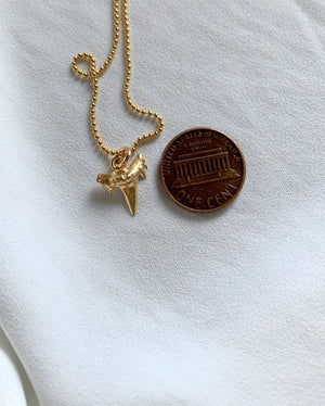 Dainty Gold Shark Tooth Pendant Necklace
