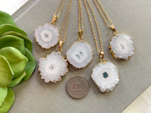 Solar Quartz Gemstone Necklace