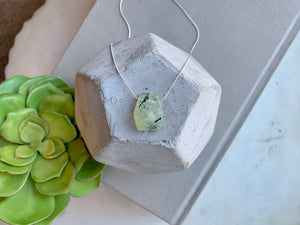 Prehnite Gemstone Pendant Necklace