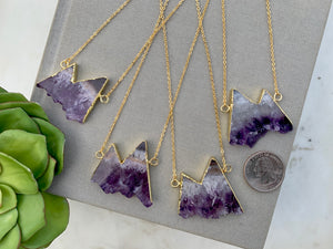 Amethyst Mountain Necklace - Gold