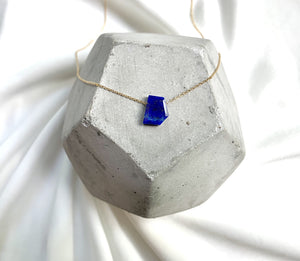 Dainty Lapis Lazuli Gemstone Necklace - September Birthstone