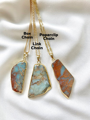 Desert Jasper Freeform Pendant Necklaces