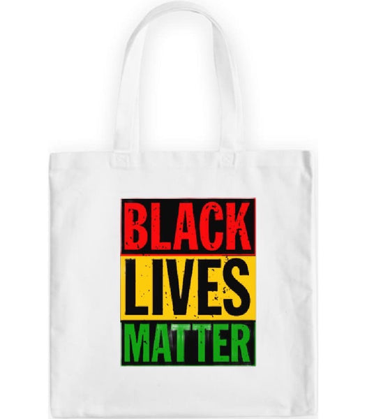 "White ""Black Lives Matters"" Tote Bag"