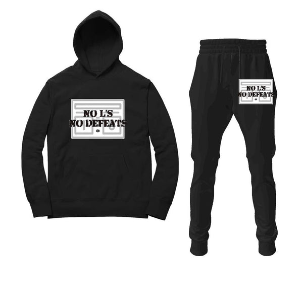 No L's No Defeats Black Hoodie / Jogger Suit