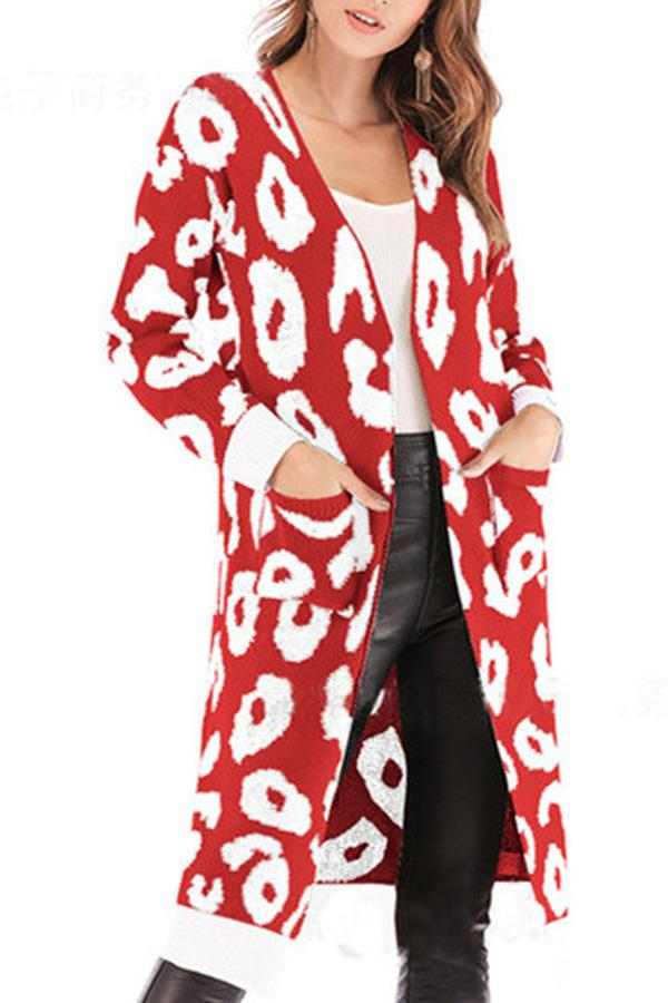1087c3b21739 Christmas Snap Front Animal Prints Cardigans – danystice
