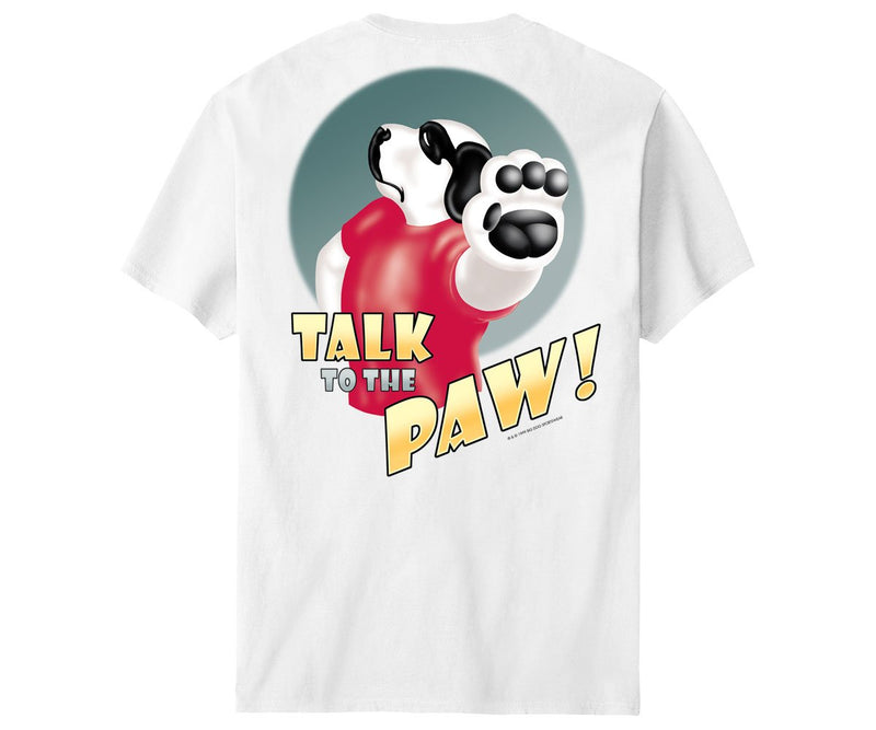 Talk To The Paw T-Shirt White