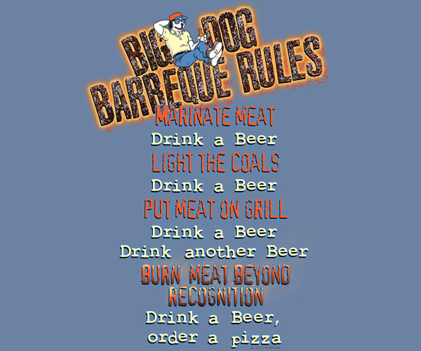 Big Dog BBQ Rules T-Shirt