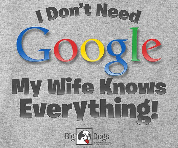 I Don't Need Google T-Shirt