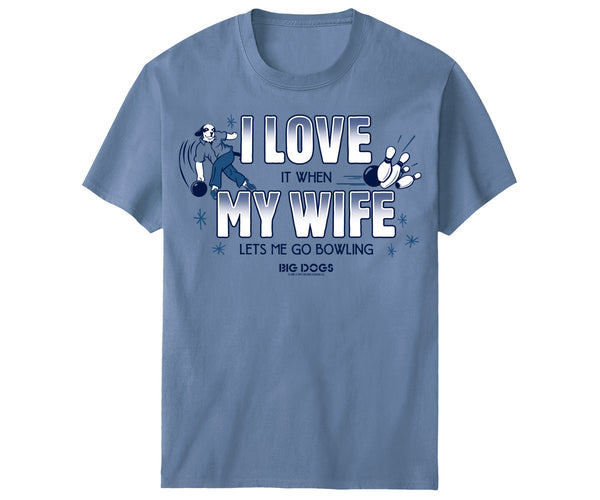 I Love My Wife Bowling T-Shirt