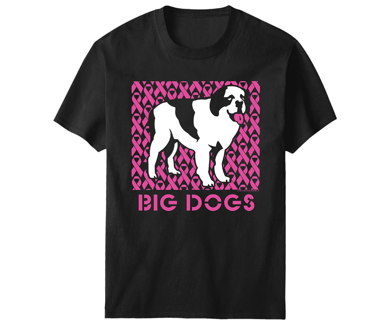 Pink Ribbon Standing Dog