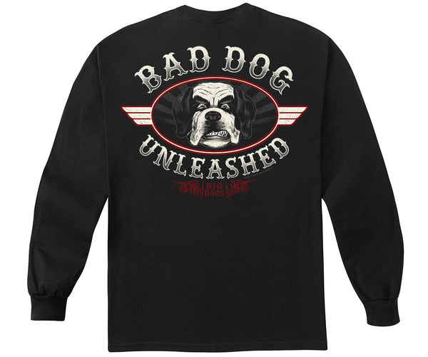 Bad Dog Unleashed Long Sleeve T-Shirt