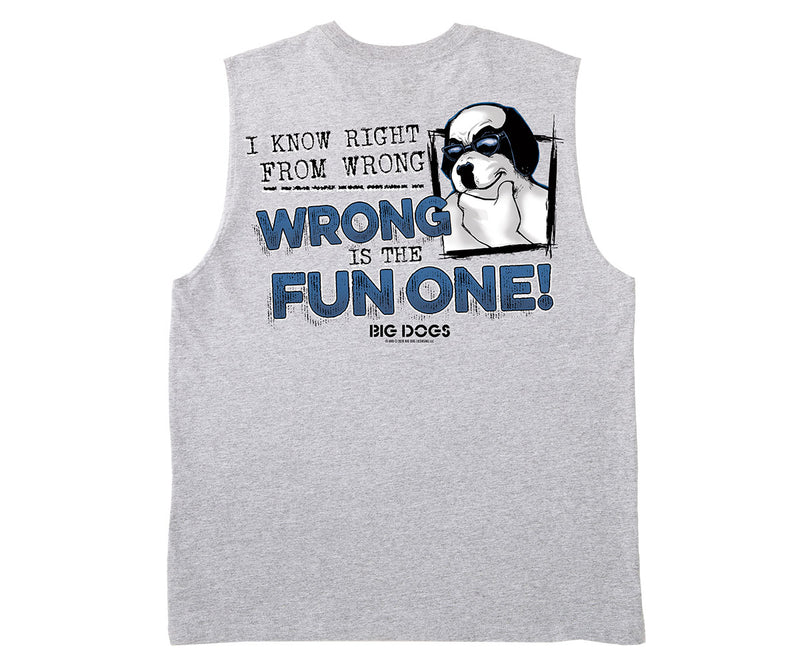 Right From Wrong Muscle Shirt