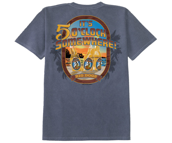 Five O'Clock Brews Pigment Washed Tee