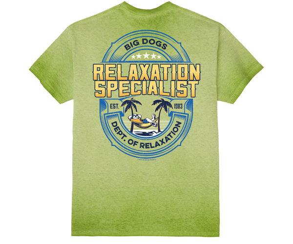 Dept. Of Relaxation Specialist Weathered Wash Tee