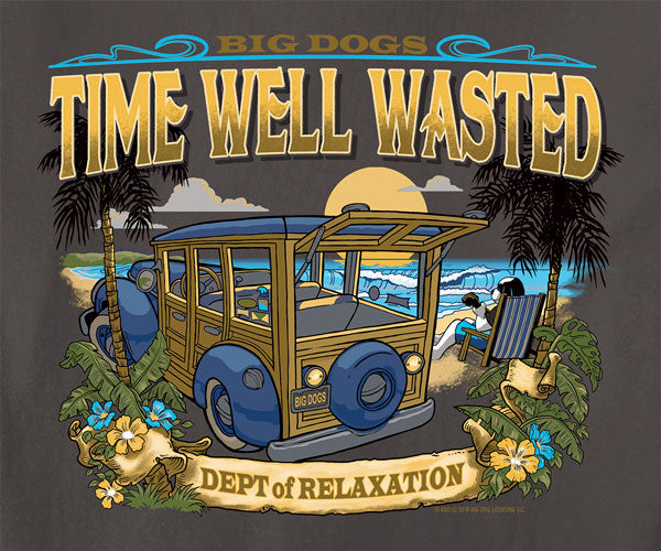 Dept. of Relaxation Time Well Wasted Garment Wash Crew