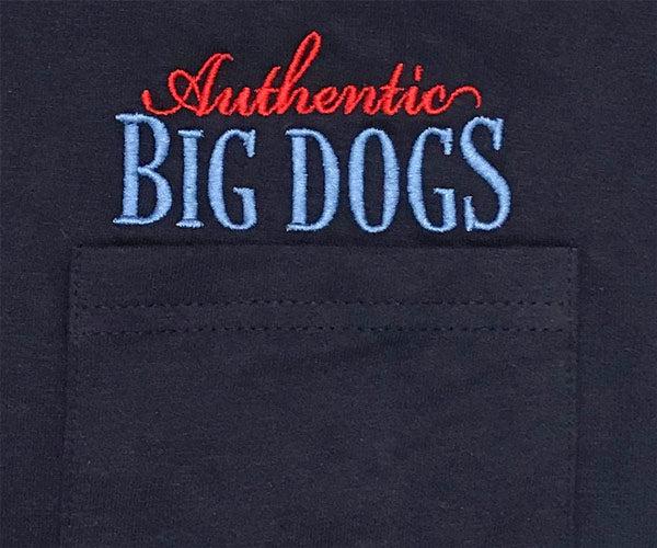 Authentic Big Dogs Embroidered Pocket Tees