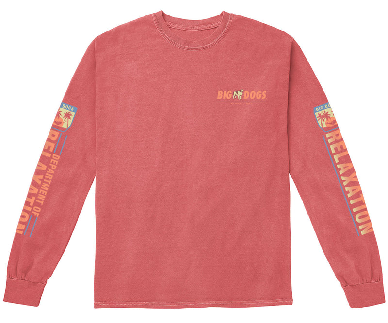 Department of Relaxation Sun Setting Pigment Washed Long Sleeve Tee