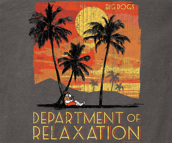 Department of Relaxation Golden Skies Pigment Washed Long Sleeve Tee