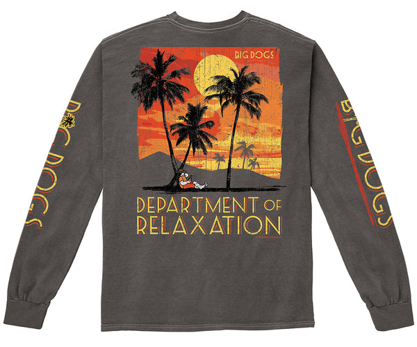 Department of Relaxation Golden Skies Pigment Washed Long Sleeve