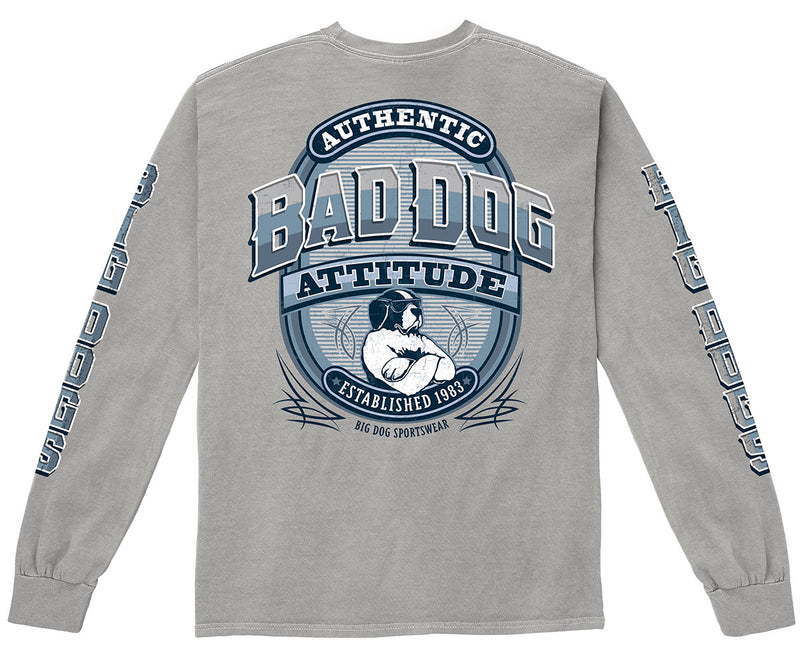 Bad Dog Attitude Pigment Washed Long Sleeve