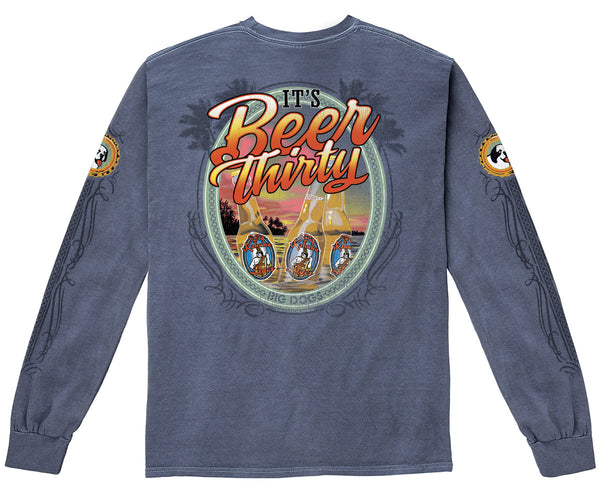 Beer Thirty Pigment Washed Long Sleeve Tee