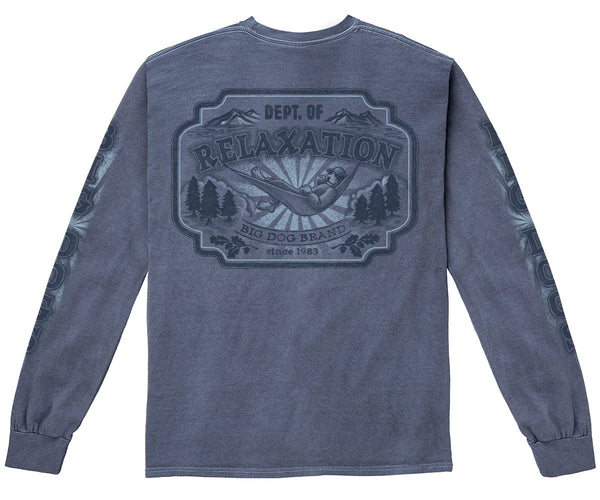 Dept. of Relaxation Sketch Pigment Washed Long Sleeve