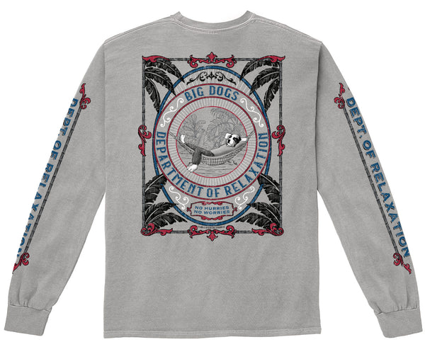 Dept. of Relaxation Tropics Pigment Washed Long Sleeve
