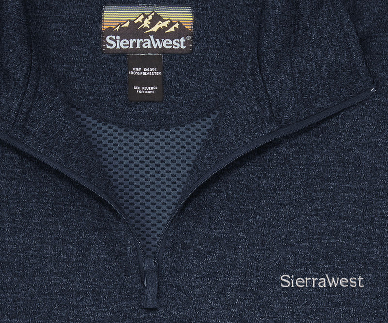 Sierra West Honeycomb Heather Half-Zip